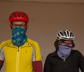 Martin and Dianne ready for the sandstorm