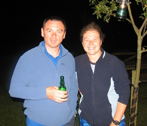 Andy and Anne Clayton at the last night BBQ