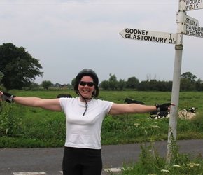Janice Mitchell on the Somerset levels