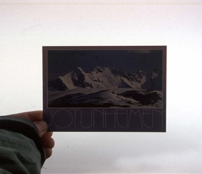 So the Jotunheim mountain was cloudy over, no matter a postcard held to the window will do the trick
