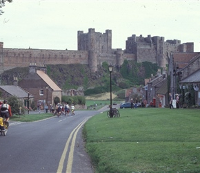 Entering Bamburgh