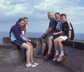 The Mitchell family at Bamburgh Castle