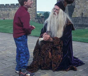 James meets Dumbledore at Alnwick Castle