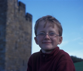 James at Alnwick Castle