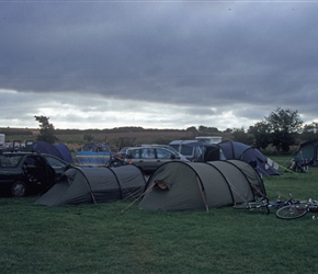 The Wheadons tent set up at Dunstan Hill