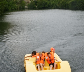 Boys on the Pedalos at Mont Castre