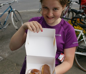 Louise with the eclair and Religieuse