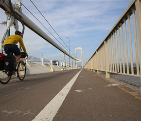 Will crosses the Severn Bridge