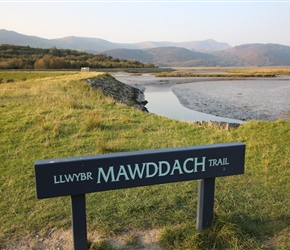 Llwybr Mawddach Trail along Afon Mawddach. This estuary ride is beautiful