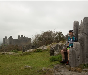 Will at the viewpoint overlooking Harlech Castle