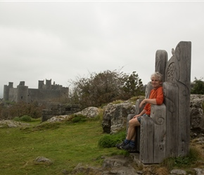 Neil overlooking Harlech Castle
