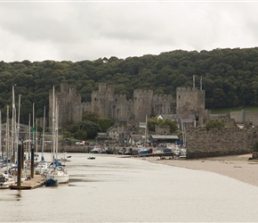 "Construction of Conwy Cstle began in 1283. The castle was an important part of King Edward I's plan of surrounding Wales in ""an iron ring of castles"" to subdue the rebellious population."